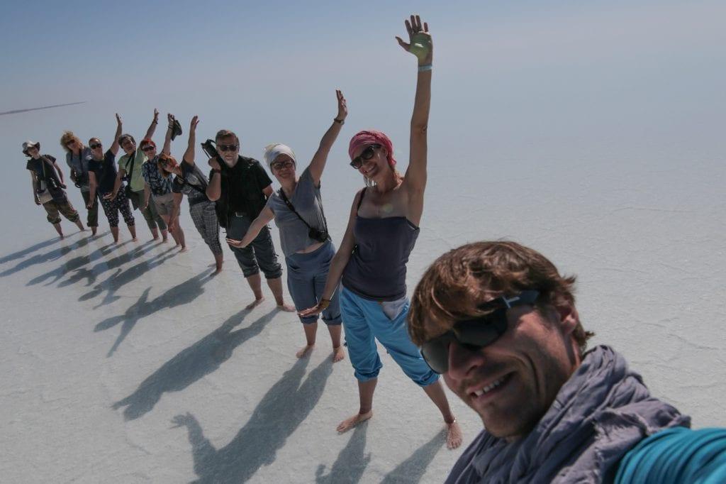 Bartek Sabela podczas Wyprawy z Reporterem Uzbekistan i Morze Aralskie